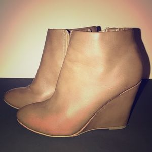 Forever 21 nude ankle booties